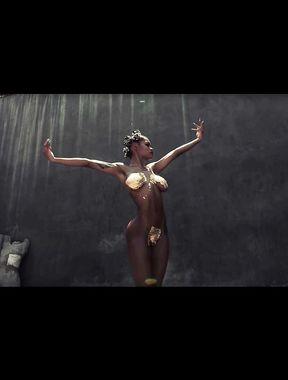 Teyana Taylor body paint nude photos