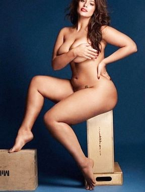 Ashley Graham fat ass and big boobs exposed