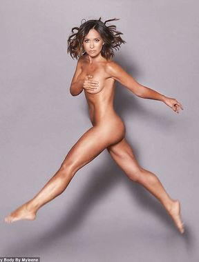 Myleene Klass goes completely nude