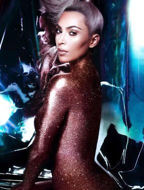 Kim Kardashian naked in famous magazines
