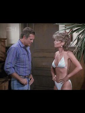 Markie Post exposes naked tits