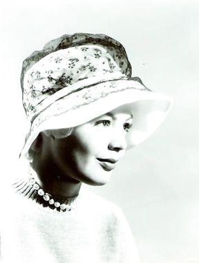 Sandra Dee wears sexy hat