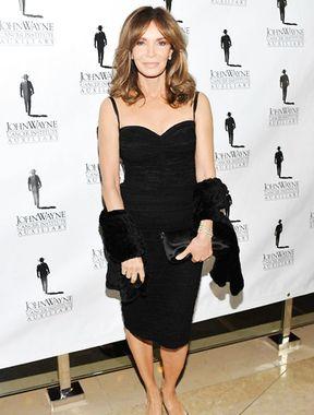 Jaclyn Smith big tits in elegant black dress
