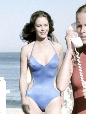 Jaclyn Smith see thru bikini hard nipples