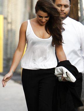 Lea Michele nipples