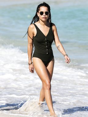 Zoë Kravitz on the beach