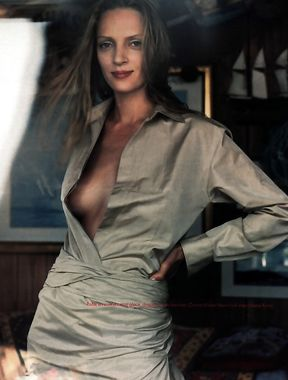 Uma Thurman Downblouse nipple
