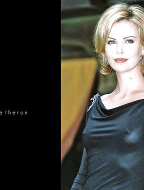 Charlize Theron nipples