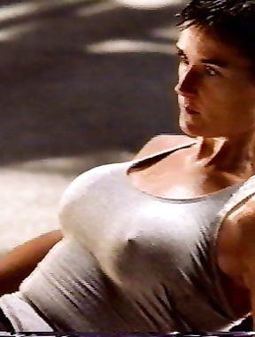 Demi Moore nipples